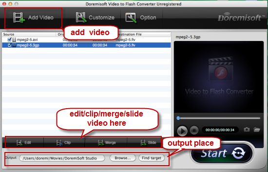 add 3gp video