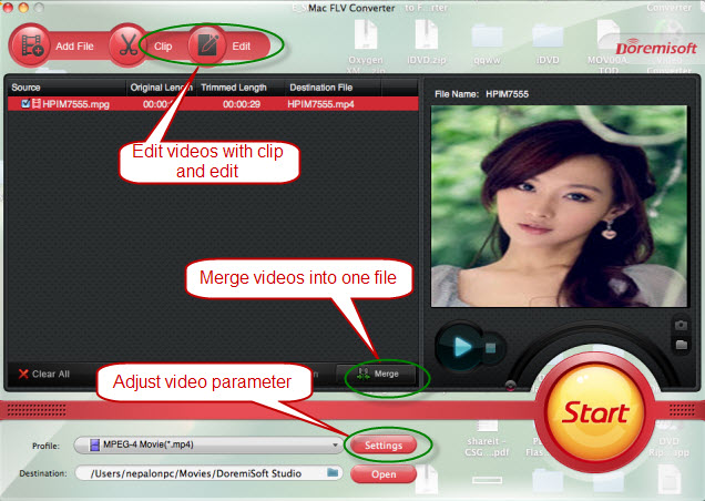 edit flash video flv