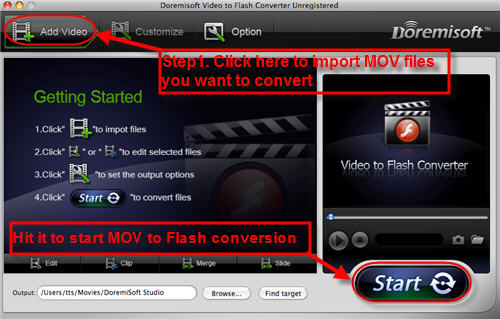 MOV to Flash Converterfor Mac