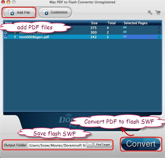 convert pdf flash swf mac