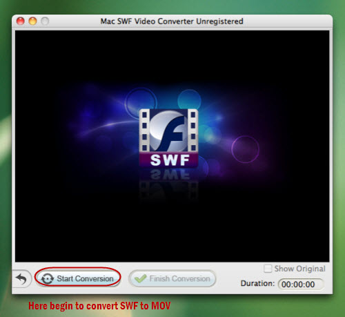 convert swf to quicktime mac