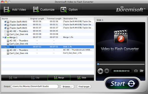 Convert Video to SWF/FLV/Animation on MacOSX.