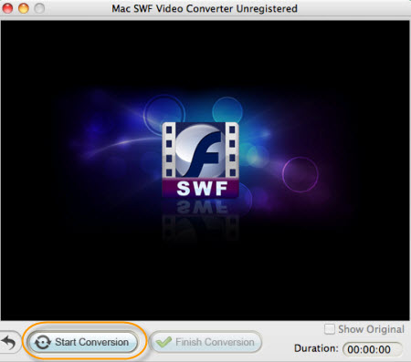 start converting swf to flv